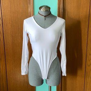 Long sleeve V-neck bodysuit